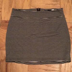 Urban Outfitters Grey & White Stripe Mini